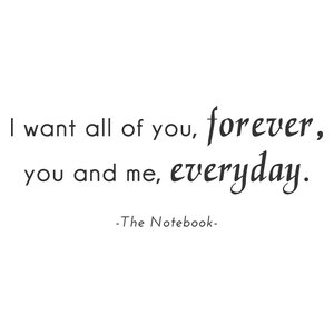 All of You Forever Vinyl Wall Sticker, Black, 150x58 Cm