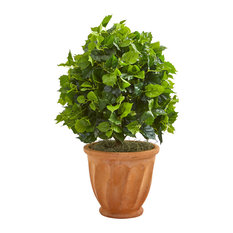 """Nearly Natural 2.5"""" Ficus Artificial Tree in Terra Cotta Planter"""
