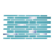 """6""""x12"""" Turquoise and Mirror Glass Tile, Half Sheet"""