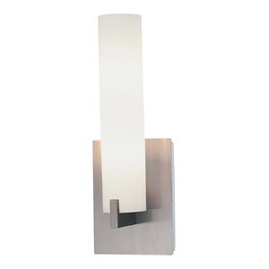 Tube 2 Light Wall Sconce in Brushed Nickel