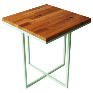 Cheese Department Servez Coffee Table, Mint Green and Oak