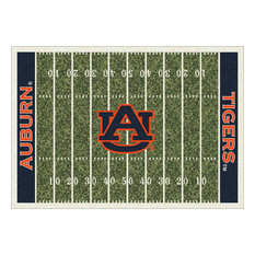 "Auburn College Home Field 10'9""x13'2"" Area Rug"