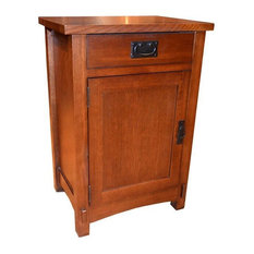 Crafters And Weavers   Arts And Crafts Mission Solid Oak Nightstand    Nightstands And Bedside Tables