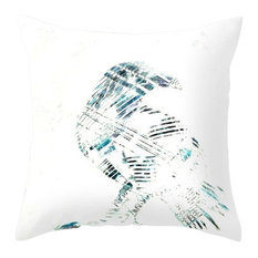 """Decorative Pillow Cover, Abstract Art Nevermore Raven, 12""""x17"""""""