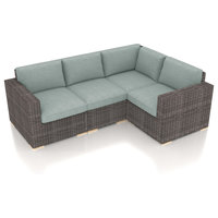 Dune 4 Piece Sectional Set, Canvas Spa