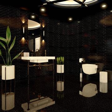 Black Golden Bathroom