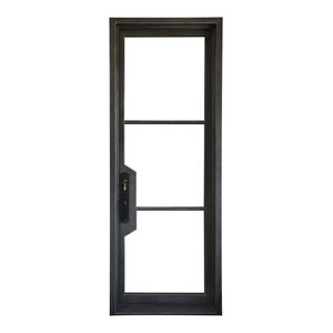 72 Quot X96 Quot Exterior Wrought Iron Door With Low E Double Glass