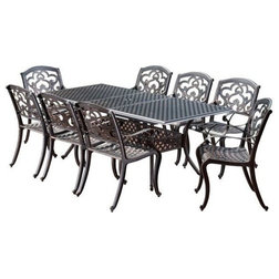 Mediterranean Outdoor Dining Sets by GDFStudio