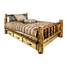 Glacier Country Collection Bed With Storage, Queen