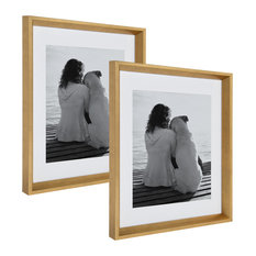 Calter Photo Frame Set, Gold 14x18 matted to 11x14