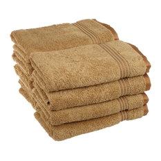 100% Cotton 8-Piece Hand Towel Set, Toast