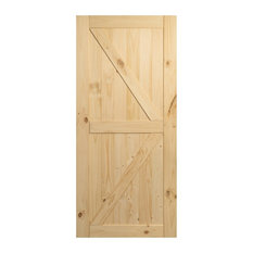 Sliding Single Barn Door Unfinished Knotty Pine No Rail Kit Included