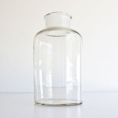 Vintage Large Glass Apothecary Jar By Kibster Bathroom Canisters