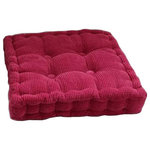 Blancho Bedding - Rose Red, Square Seat Cushion Floor Pillow Thickened Chair Pad Tatami - Comfortable, soft and stylish. Unique concave-convex design to support and massage the hip, comfort your sitting body. Multi-purpose, can be used as floor pillow, chair cushion, bay window cushion, as well as yoga meditation cushion. This cushion could surely provide a warm, welcoming feeling to your daily life. Dimensions: 40x40cm/ 15.74x15.74 inch.