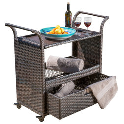 Tropical Outdoor Serving Carts by GDFStudio