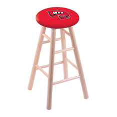 Maple Counter Stool Natural Finish With Western Kentucky Seat 24-inch