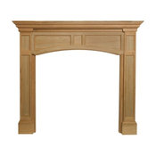 "The Vance 48"" Fireplace Mantel, Unfinished"