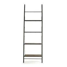 Bookcase Martynas Rusted Rust Elm Metal New