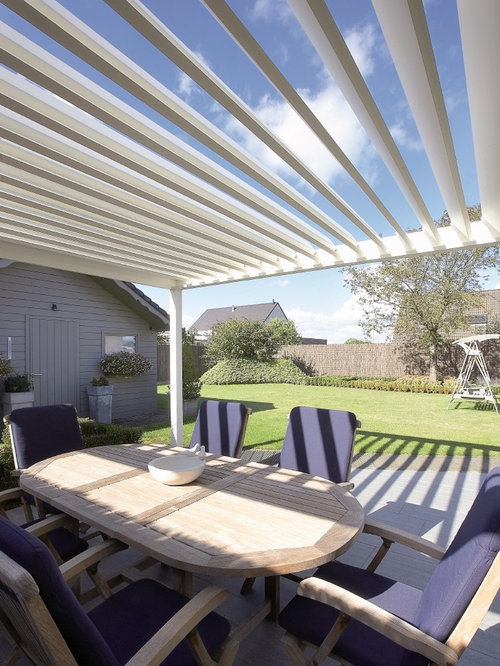 Algarve Motorized Louver Shade Structure
