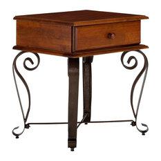Byzanz Bedside Table, Mahogany