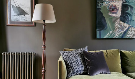 Room Tour: Dark Hues and Period Details Revive a Dull Living Room