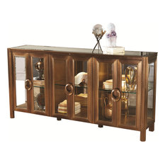 Apothecary Console Cabinet - Dark Brass