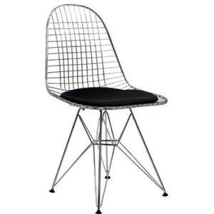 Fine Mod Imports  Eiffel Dining Chair, Black