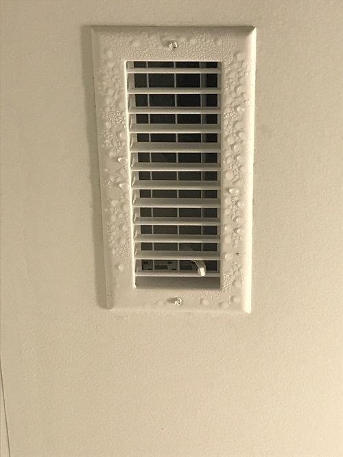 Condensation On Vents