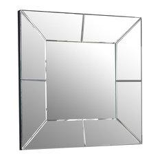 Square Dial Wall Mirror, 80x80 cm