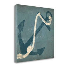 """Nautical Anchor Blue"" By Ryan Fowler, Giclee Print on Gallery Wrap Canvas"