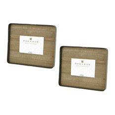 Rectangular Brown Picture Frame Set of 2 - in Brown Color - Photo   Brown