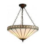 Pendant Light - Tiffany art glass & dark bronze paint with highlights