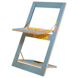 Fläpps Birch Plywood Patterned Folding Chair, Flowers