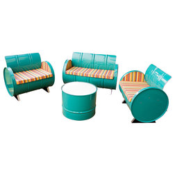 Eclectic Outdoor Lounge Sets by Drum Works Furniture