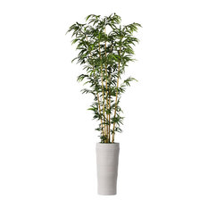 """93"""" Bamboo Artificial Tree in Natural Poles in Planter"""