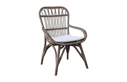 Nona Grey Rattan Dining Chair