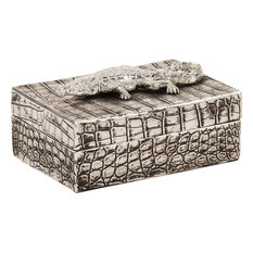 Decorative Box, Crocodile Texture