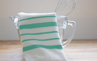DIY Friday: Paint a Dishtowel for Kitchen Color