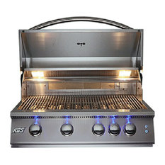 """32"""" Premier Series Built-In Grill With LED Lights, Propane"""