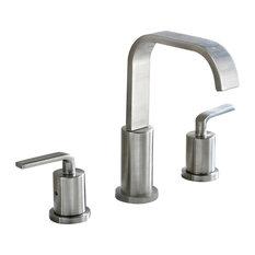 Luxier - Luxier Bathroom Vanity Sink Widespread Lavatory Faucet Lead Free, Brushed Nickel - Bathroom