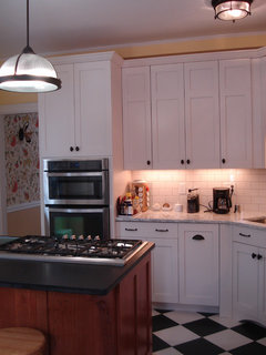 9ft kitchen ceiling- tall cabinets to ceiling or one ...