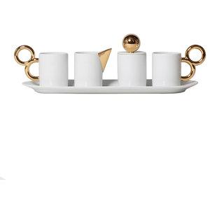 Maniériste 7-Piece Limoges Porcelain Coffee Set