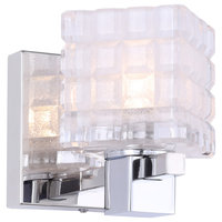 Woodbridge Lighting Langston 1-Light Bath/Wall LED, Frosted Crispy Square