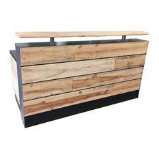 Fine Design Fabrication - Memphis with Dallas Slats, 4' - Desks and Hutches