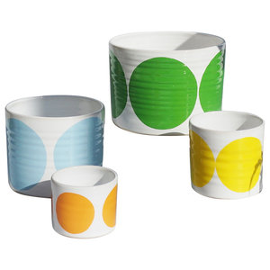 Spots Decorative Jars, Happy Mix, Set of 4