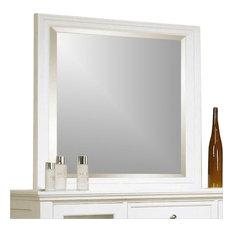 Coaster Sandy Beach Mirror in White