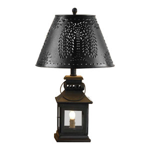 Country new GRANDMA/'S shaded black punched tin double accent light