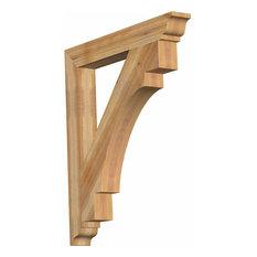"""Merced Traditional Rough Sawn Bracket, Western Red Cedar 4""""W x 32""""D x 36""""H"""