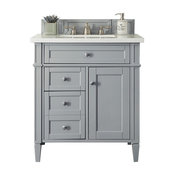 "Brittany 30"" Single Vanity Urban Gray, 3 cm Arctic Fall Top"
