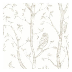 A-Street Prints by Brewster 2716-23862 Eclipse Neptune Taupe Forest Wallpaper
